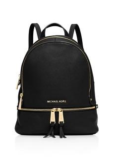 MICHAEL Michael Kors Rhea Zip Small Leather Backpack