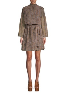 MICHAEL Michael Kors Smocked Floral Blouson Dress