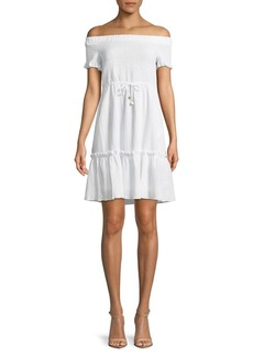 MICHAEL Michael Kors Smocked Off-the-Shoulder Dress