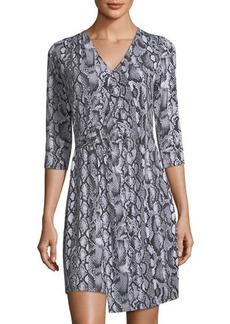 MICHAEL Michael Kors Snakeskin-Print Wrap Dress
