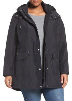 MICHAEL Michael Kors Snap Front Hooded Jacket (Plus Size)