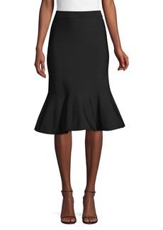 MICHAEL Michael Kors Solid Jersey Flare-Hem Skirt