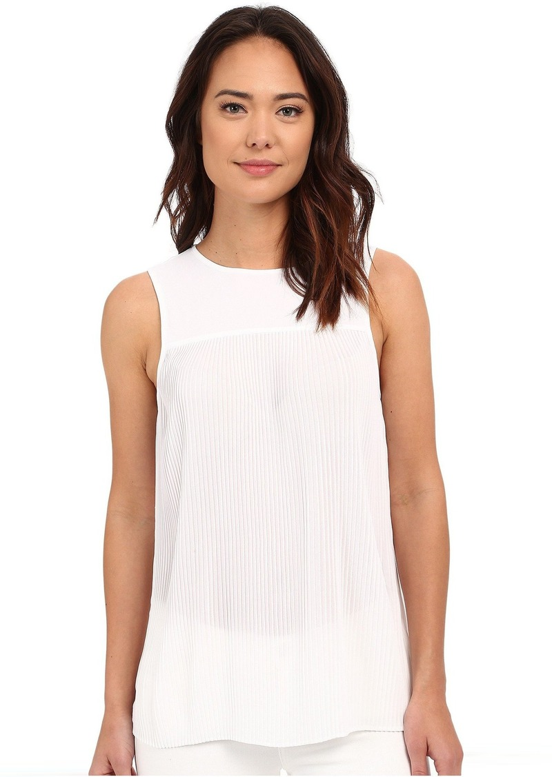 e51d2a7df1228 MICHAEL Michael Kors MICHAEL Michael Kors Solid Pleated Top