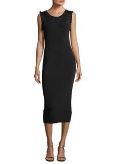 MICHAEL Michael Kors Solid Ruffle-Trim Sheath Dress
