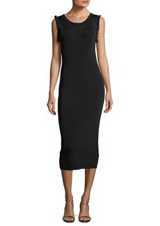MICHAEL Michael Kors Solid Ruffle-Trim Sheath Dress