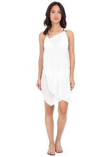 MICHAEL Michael Kors Solids One Shoulder Draped Cover-Up Dress