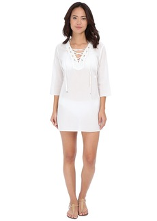 MICHAEL Michael Kors Solids V-Neck Tunic Cover-Up