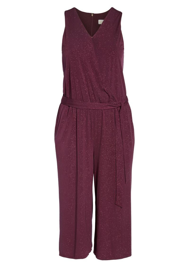 MICHAEL Michael Kors Sparkle Crop Jumpsuit (Plus Size)