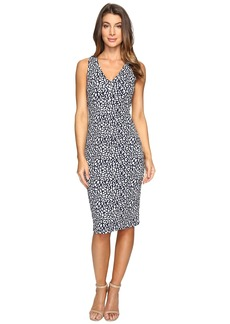 MICHAEL Michael Kors Sporty Jacquard V-Neck Dress