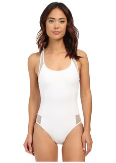 MICHAEL Michael Kors Sporty Mesh Racerback Maillot One-Piece