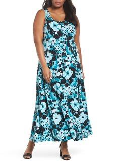 MICHAEL Michael Kors Spring Floral Maxi Tank Dress (Plus Size)