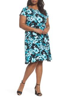MICHAEL Michael Kors Springtime Floral Cutout Dress (Plus Size)
