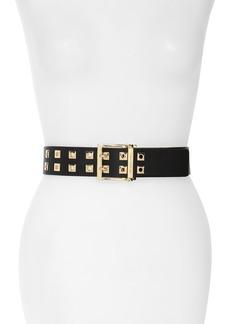 MICHAEL Michael Kors Square Grommet Leather Belt