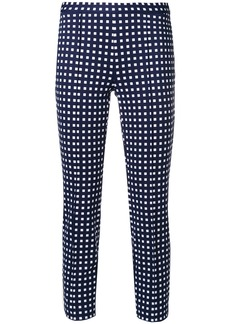 Michael Michael Kors square print cropped trousers - Blue