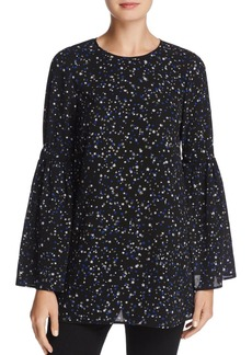 MICHAEL Michael Kors Star-Print Bell-Sleeve Top