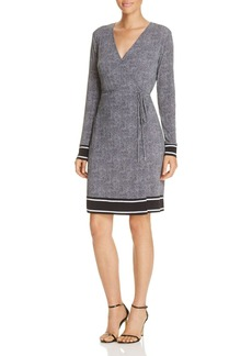 MICHAEL Michael Kors Stingray Border Print Wrap Dress