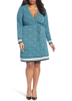 MICHAEL Michael Kors Stingray Border Print Wrap Dress (Plus Size)