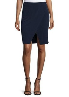 MICHAEL Michael Kors Stretch-Knit Crossover Skirt