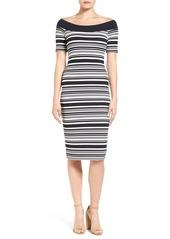 MICHAEL Michael Kors Stripe Body-Con Dress