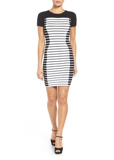 MICHAEL Michael Kors Stripe Knit Sheath Dress