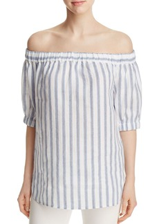 MICHAEL Michael Kors Stripe Off-The-Shoulder Top