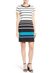 MICHAEL Michael Kors Stripe Ottoman T-Shirt Dress (Regular & Petite)