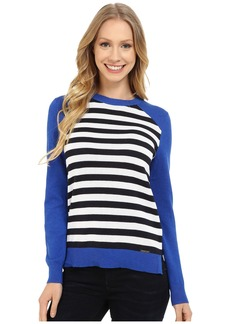 MICHAEL Michael Kors Stripe Raglan Sweater