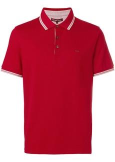 Michael Michael Kors stripe-trimmed polo shirt - Red