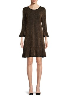 MICHAEL Michael Kors Striped Bell-Sleeve Mini Dress