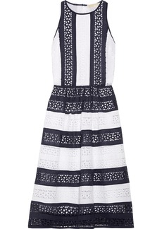 MICHAEL Michael Kors Striped broderie anglaise cotton dress