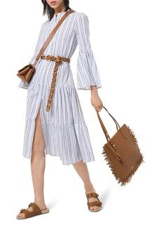 MICHAEL Michael Kors Striped Cotton Gauze Tiered Dress