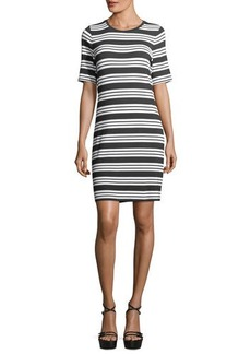 MICHAEL Michael Kors Striped Crewneck Tee Dress