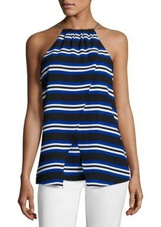 MICHAEL Michael Kors Striped Crisscross Chain Tank