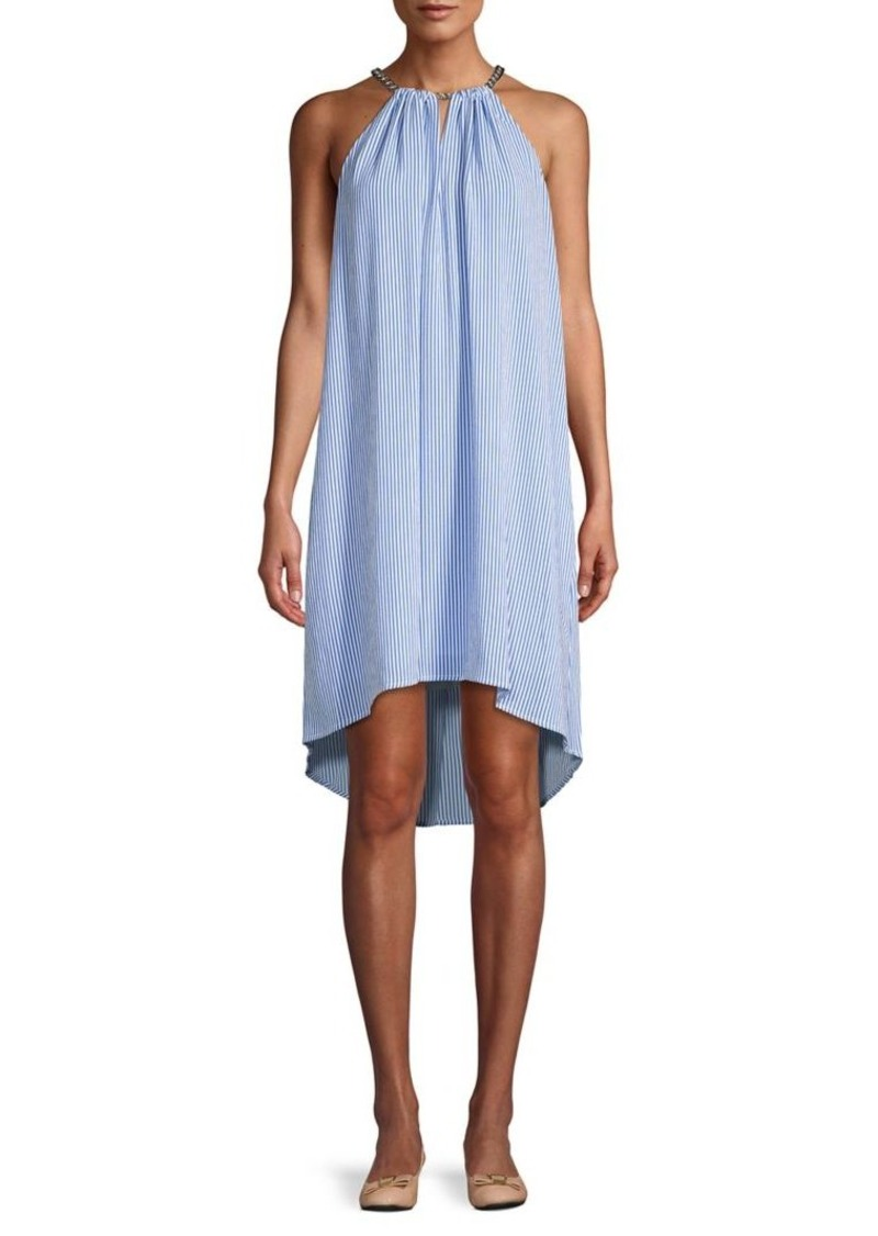 MICHAEL Michael Kors Striped Haltedneck Dress
