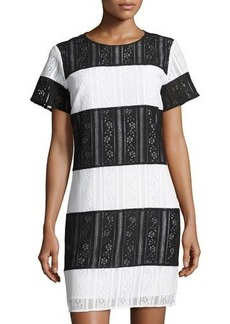 MICHAEL Michael Kors Striped Lace Tee Dress