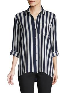 MICHAEL Michael Kors Striped Long-Sleeve Shirt