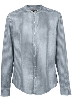 Michael Michael Kors striped mandarin-collar shirt - Blue