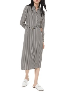 MICHAEL Michael Kors Striped Midi Shirt Dress
