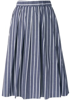 Michael Michael Kors striped midi skirt - Blue
