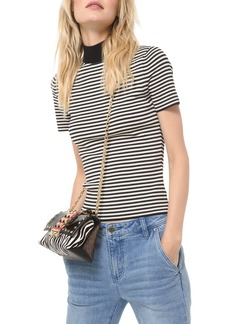 MICHAEL Michael Kors Striped Mock-Neck Top