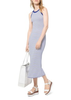 MICHAEL Michael Kors Striped Racerback Midi Dress