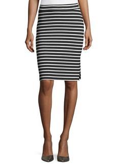 MICHAEL Michael Kors Striped Rib-Knit Pencil Skirt