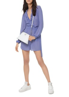MICHAEL Michael Kors Striped Ruffled Georgette Romper