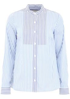 MICHAEL Michael Kors Striped Shirt With Plastron