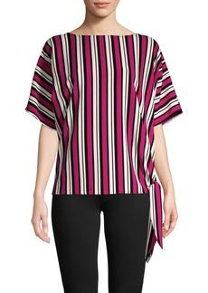 MICHAEL Michael Kors Striped Side-Tie Top