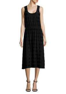 MICHAEL Michael Kors Striped Sleeveless Midi Dress
