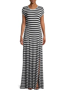 MICHAEL Michael Kors Striped Slit Maxi Dress