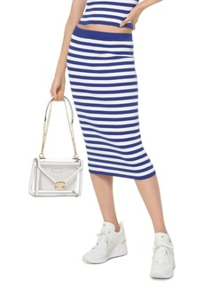 MICHAEL Michael Kors Striped Stretch Pencil Skirt