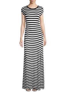 MICHAEL Michael Kors Striped T-Shirt Maxi Dress