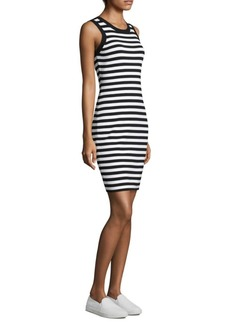 MICHAEL Michael Kors Striped Tank Sheath Dress